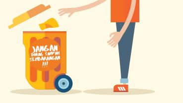 2016-01-22-'Jangan-Buang-Sampah-Sembarangan'-Campaign
